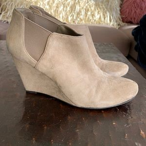 Vince Camuto beige ankle booties
